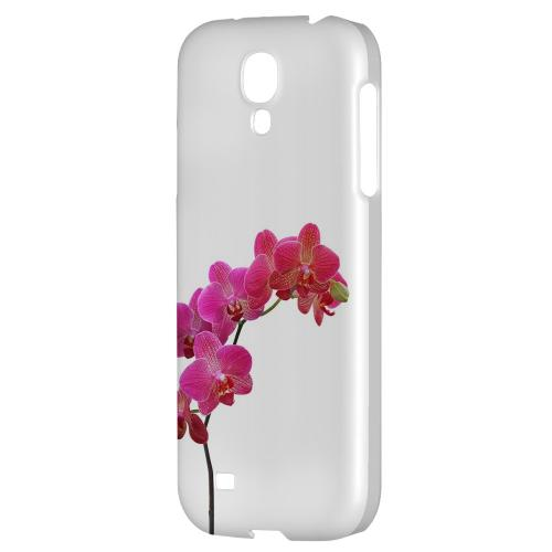 Hot Pink Orchid Branch - Geeks Designer Line Floral Series Hard Back Case for Samsung Galaxy S4