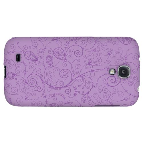 Floral 1 African Violet - Geeks Designer Line Pantone Color Series Hard Back Case for Samsung Galaxy S4