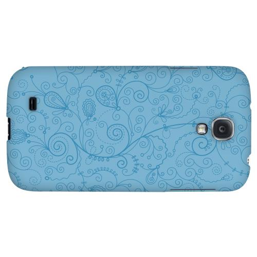 Floral 1 Dusk Blue - Geeks Designer Line Pantone Color Series Hard Back Case for Samsung Galaxy S4
