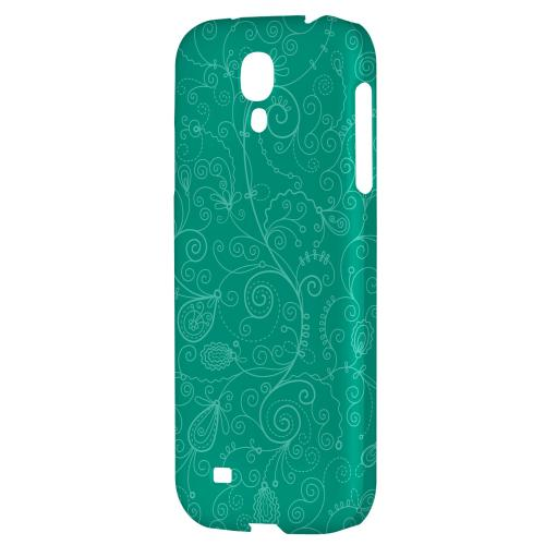 Floral 1 Emerald - Geeks Designer Line Pantone Color Series Hard Back Case for Samsung Galaxy S4