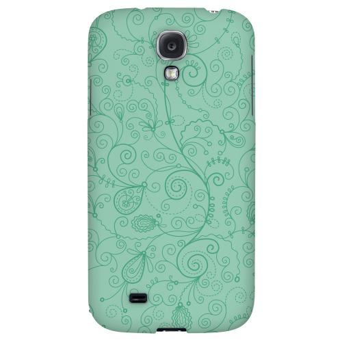 Floral 1 Grayed Jade - Geeks Designer Line Pantone Color Series Hard Back Case for Samsung Galaxy S4