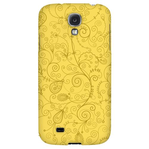 Floral 1 Lemon Zest - Geeks Designer Line Pantone Color Series Hard Back Case for Samsung Galaxy S4