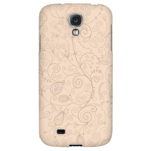 Floral 1 Linen - Geeks Designer Line Pantone Color Series Hard Back Case for Samsung Galaxy S4