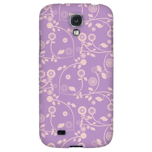 Floral 2 African Violet - Geeks Designer Line Pantone Color Series Hard Back Case for Samsung Galaxy S4