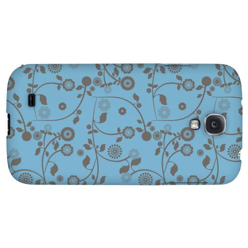 Floral 2 Dusk Blue - Geeks Designer Line Pantone Color Series Hard Back Case for Samsung Galaxy S4