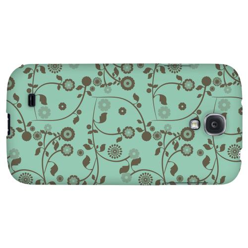 Floral 2 Grayed Jade - Geeks Designer Line Pantone Color Series Hard Back Case for Samsung Galaxy S4