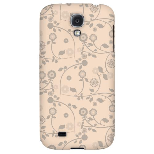 Floral 2 Linen - Geeks Designer Line Pantone Color Series Hard Back Case for Samsung Galaxy S4