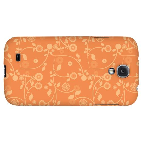 Floral 2 Nectarine - Geeks Designer Line Pantone Color Series Hard Back Case for Samsung Galaxy S4