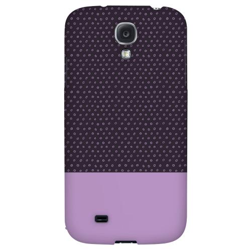 Little Circle Dots African Violet - Geeks Designer Line Pantone Color Series Hard Back Case for Samsung Galaxy S4