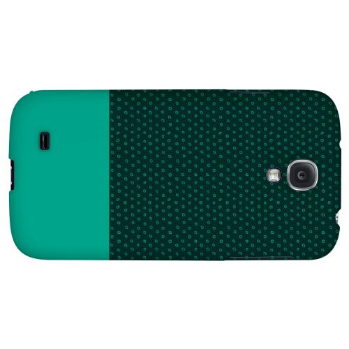 Little Circle Dots Emerald - Geeks Designer Line Pantone Color Series Hard Back Case for Samsung Galaxy S4