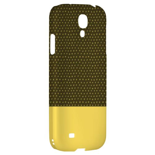 Little Circle Dots Lemon Zest - Geeks Designer Line Pantone Color Series Hard Back Case for Samsung Galaxy S4