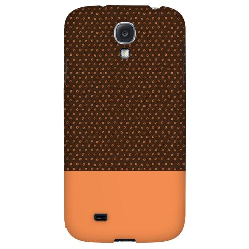 Little Circle Dots Nectarine - Geeks Designer Line Pantone Color Series Hard Back Case for Samsung Galaxy S4