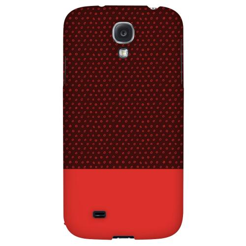 Little Circle Dots Poppy Red - Geeks Designer Line Pantone Color Series Hard Back Case for Samsung Galaxy S4
