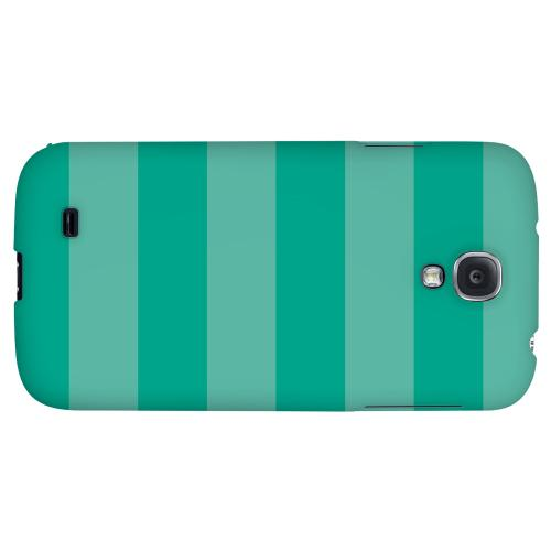 Stripes Emerald - Geeks Designer Line Pantone Color Series Hard Back Case for Samsung Galaxy S4