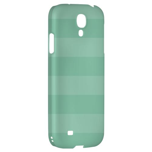 Stripes Grayed Jade - Geeks Designer Line Pantone Color Series Hard Back Case for Samsung Galaxy S4