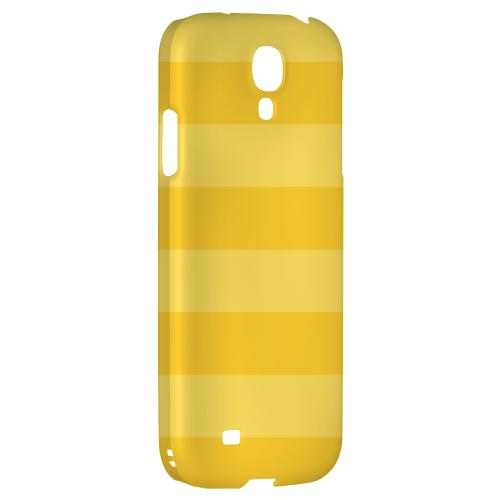 Stripes Lemon Zest - Geeks Designer Line Pantone Color Series Hard Back Case for Samsung Galaxy S4