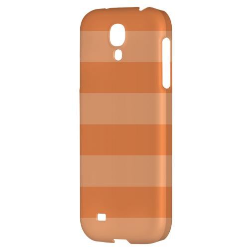 Stripes Nectarine - Geeks Designer Line Pantone Color Series Hard Back Case for Samsung Galaxy S4