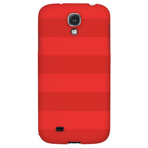 Stripes Poppy Red - Geeks Designer Line Pantone Color Series Hard Back Case for Samsung Galaxy S4
