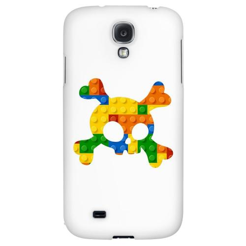Blocks Crossbones - Geeks Designer Line Skull Series Hard Back Case for Samsung Galaxy S4