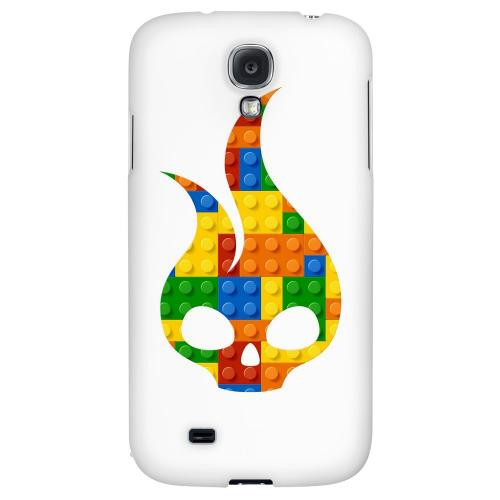 Blocks Flameskull - Geeks Designer Line Skull Series Hard Back Case for Samsung Galaxy S4