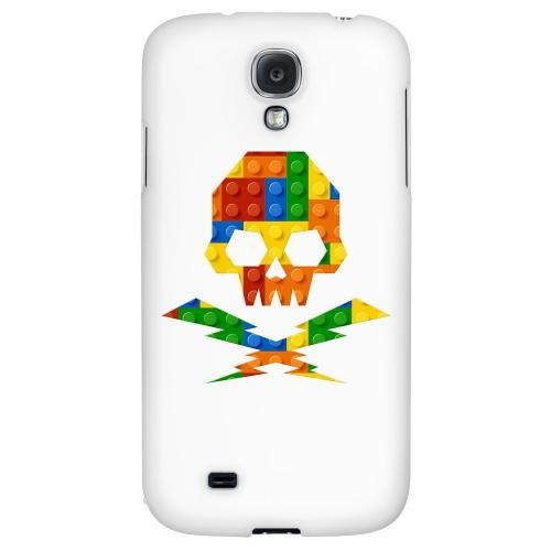 Blocks Skull Lightning Crossbones - Geeks Designer Line Skull Series Hard Back Case for Samsung Galaxy S4