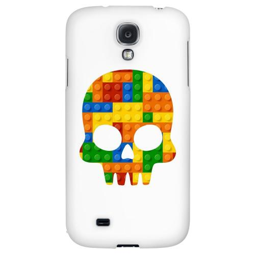 Blocks Skull - Geeks Designer Line Skull Series Hard Back Case for Samsung Galaxy S4