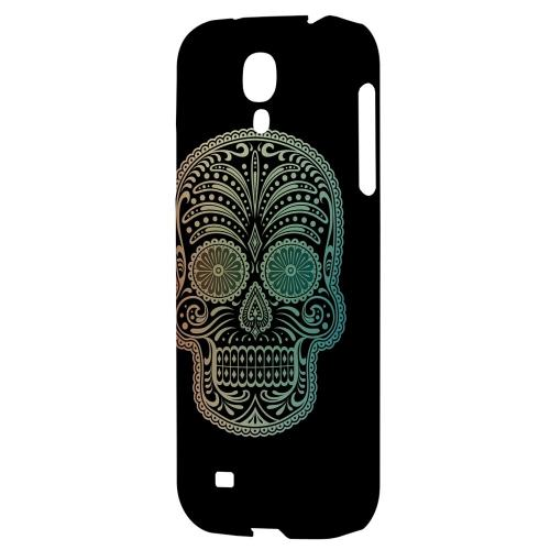 Dia De Los Muertos Blue Red Fade - Geeks Designer Line Skull Series Hard Back Case for Samsung Galaxy S4