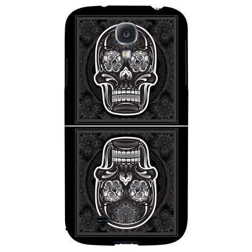 Domino Double Skull - Geeks Designer Line Skull Series Hard Back Case for Samsung Galaxy S4