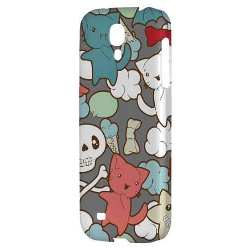 Hello Neko Skull - Geeks Designer Line Skull Series Hard Back Case for Samsung Galaxy S4