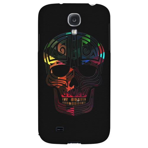 Rapero Muerto Geometric Color on Mesh - Geeks Designer Line Skull Series Hard Back Case for Samsung Galaxy S4