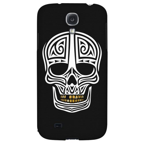 Rapero Muerto on Dark Mesh Dot - Geeks Designer Line Skull Series Hard Back Case for Samsung Galaxy S4