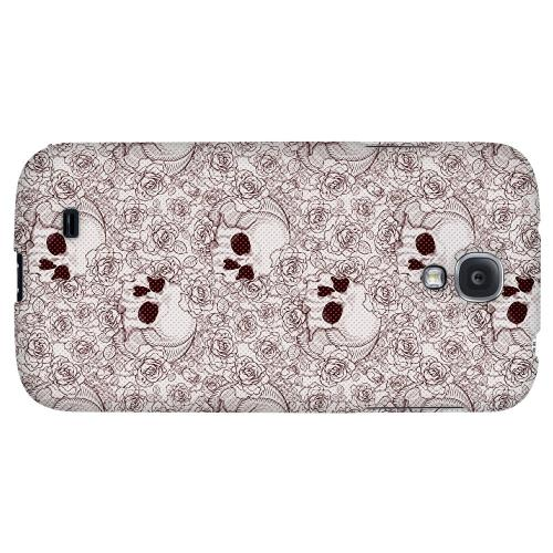 Thorn Skull Red Halftone - Geeks Designer Line Skull Series Hard Back Case for Samsung Galaxy S4