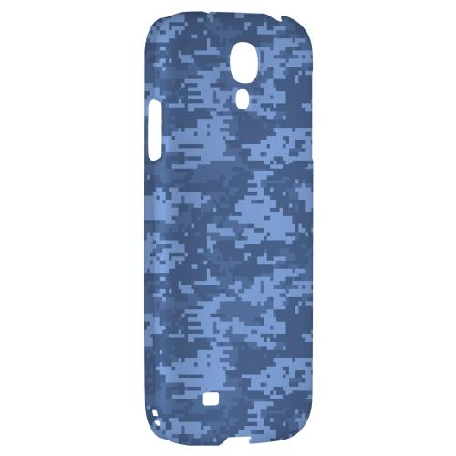 Blue Digital Camouflage - Geeks Designer Line Hard Back Case for Samsung Galaxy S4