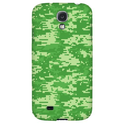 Green Digital Camouflage - Geeks Designer Line Hard Back Case for Samsung Galaxy S4