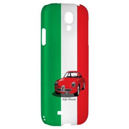 Red Alfa Romeo on Green/ White/ Red - Geeks Designer Line Auto Series Hard Back Case for Samsung Galaxy S4