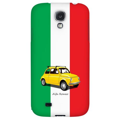 Yellow Alfa Romeo on Green/ White/ Red - Geeks Designer Line Auto Series Hard Back Case for Samsung Galaxy S4