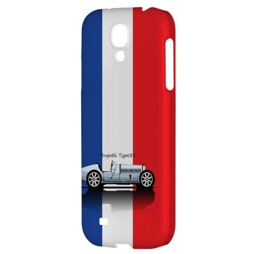 Bugatti Type 35S on Blue/ White/ Red - Geeks Designer Line Auto Series Hard Back Case for Samsung Galaxy S4