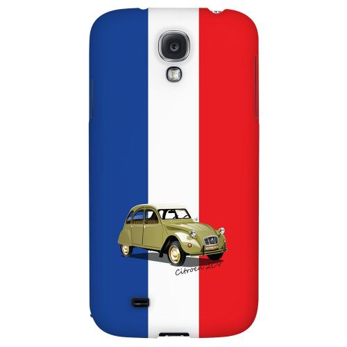 Citroen 2CV on Blue/ White/ Red - Geeks Designer Line Auto Series Hard Back Case for Samsung Galaxy S4
