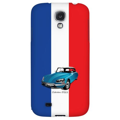Citroen DS21 on Blue/ White/ Red - Geeks Designer Line Auto Series Hard Back Case for Samsung Galaxy S4
