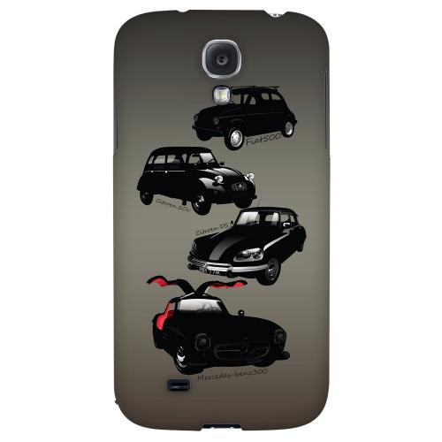 Classic Euro Cars Fade - Geeks Designer Line Auto Series Hard Back Case for Samsung Galaxy S4