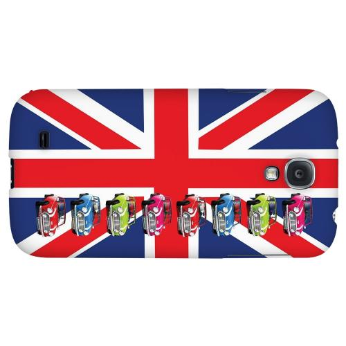 Multi Mini Coopers on Union Jack - Geeks Designer Line Auto Series Hard Back Case for Samsung Galaxy S4