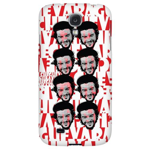 Che Guevara Happy Revolutionary Multi-Face on Red - Geeks Designer Line Revolutionary Series Hard Back Case for Samsung Galaxy S4