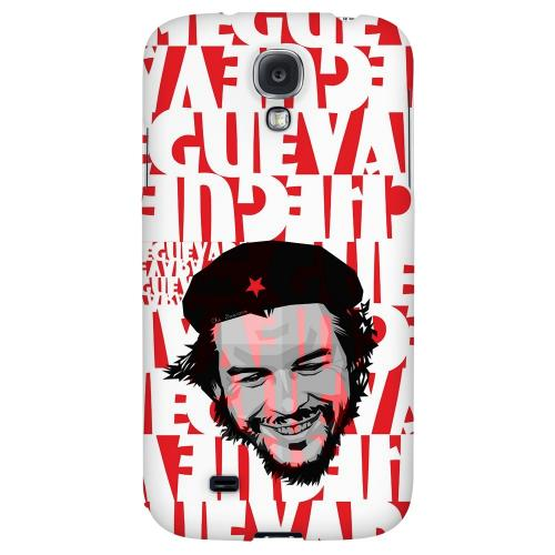 Che Guevara Happy Revolutionary on Red - Geeks Designer Line Revolutionary Series Hard Back Case for Samsung Galaxy S4