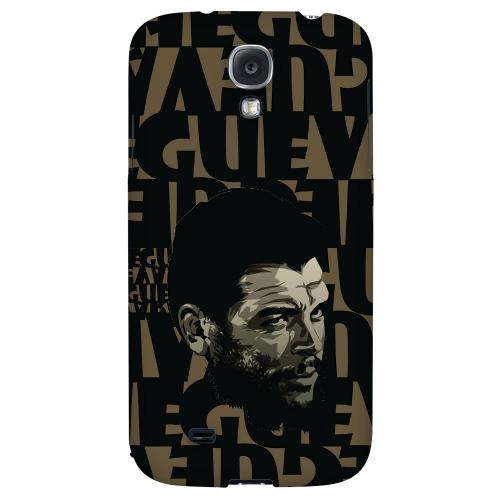 Che Guevara Serious Man on Brown - Geeks Designer Line Revolutionary Series Hard Back Case for Samsung Galaxy S4