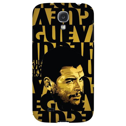 Che Guevara Serious Man on Gold - Geeks Designer Line Revolutionary Series Hard Back Case for Samsung Galaxy S4