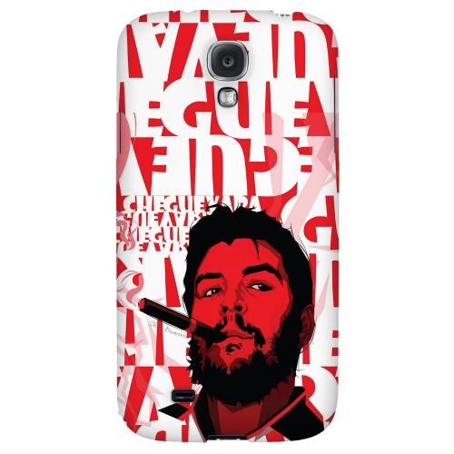 Che Guevara Smoke Red - Geeks Designer Line Revolutionary Series Hard Back Case for Samsung Galaxy S4
