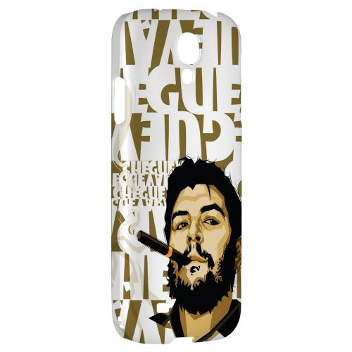 Che Guevara Smoke White Letters - Geeks Designer Line Revolutionary Series Hard Back Case for Samsung Galaxy S4