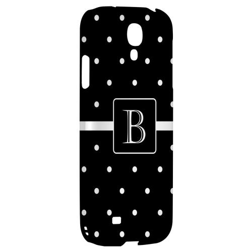 Monogram B on Classic Mini Polka Dots - Geeks Designer Line Monogram Series Hard Back Case for Samsung Galaxy S4