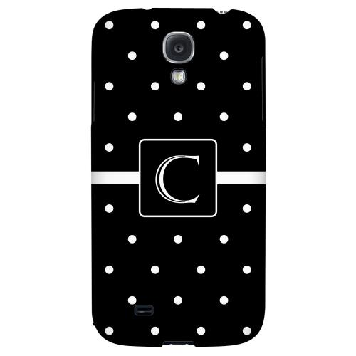 Monogram C on Classic Mini Polka Dots - Geeks Designer Line Monogram Series Hard Back Case for Samsung Galaxy S4