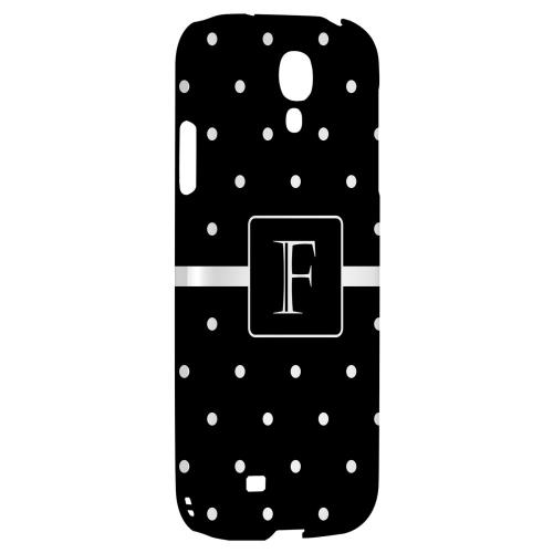 Monogram F on Classic Mini Polka Dots - Geeks Designer Line Monogram Series Hard Back Case for Samsung Galaxy S4